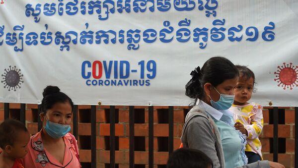 Kamboçya - maske - koronavirüs - Sputnik Türkiye