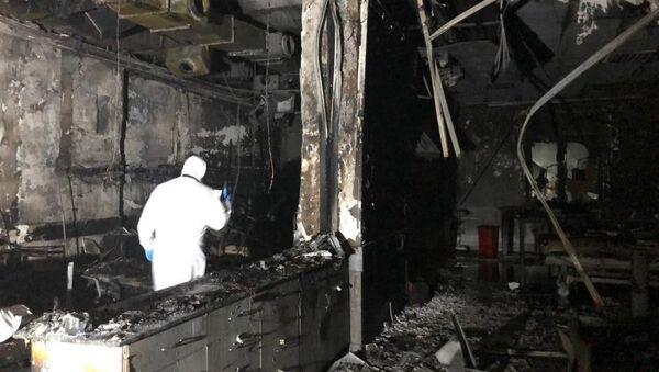 Patlamanın olduğu yoğun bakım ünitesi - Sputnik Türkiye