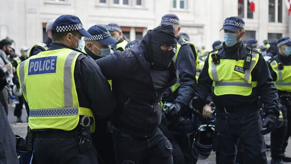 İngiltere, Londra, aşı karşıtları, protesto - Sputnik Türkiye