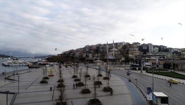 Üsküdar Meydanı ve çevresinde - sokağa çıkma kısıtlaması - Sputnik Türkiye