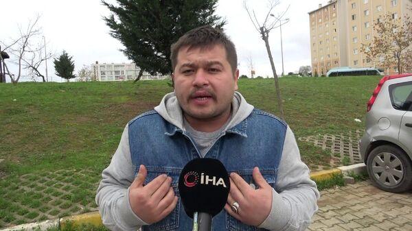 Tuzla'da denetim sırasında maskesiz olduğu için hakkında işlem yapılan daha sonra Bana teşkilatın numarasını verin sözleriyle uzun süre gündem olan kurye Cihan Aksu, - Sputnik Türkiye