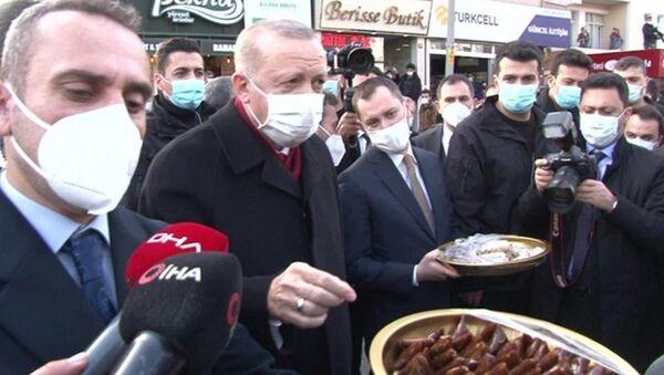 Erdoğan'ın pestil ikramı - Sputnik Türkiye