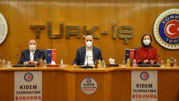 Türk-İş, Hak-İş ve DİSK'ten ortak asgari ücret açıklaması - Sputnik Türkiye