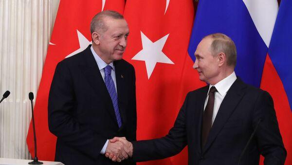 Cumhurbaşkanı Recep Tayyip Erdoğan ve Rusya Devlet Başkanı Vladimir Putin - Sputnik Türkiye