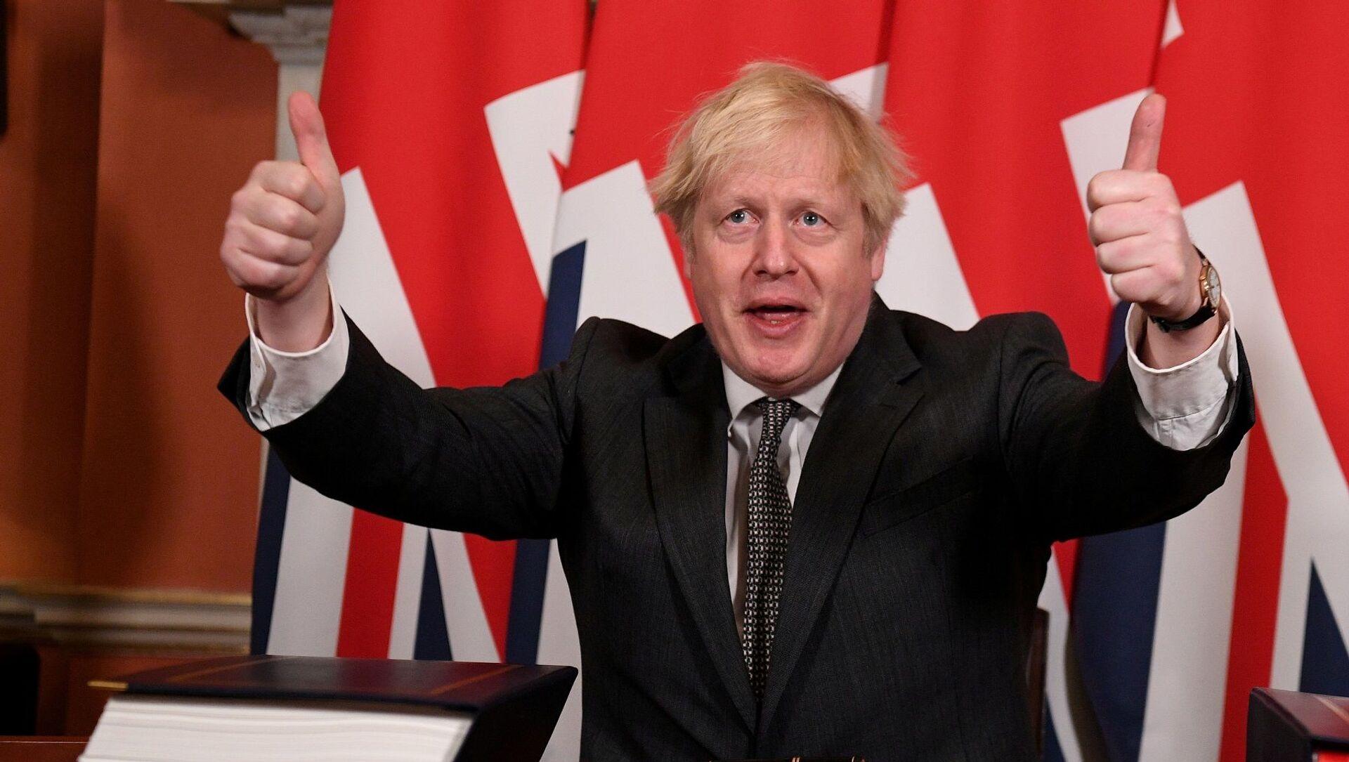 Boris Johnson  - Sputnik Türkiye, 1920, 22.02.2021