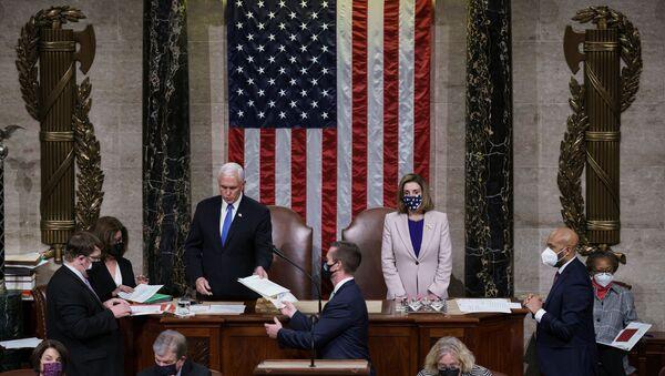 Joe Biden'ın başkanlığının tescillendiği ABD Kongresi oturumu - Sputnik Türkiye