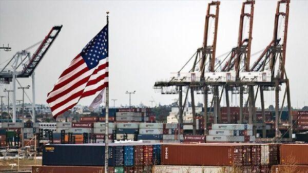 ABD ticaret açığı, abd bayrağı-ekonomi, abd ekonomisi - Sputnik Türkiye