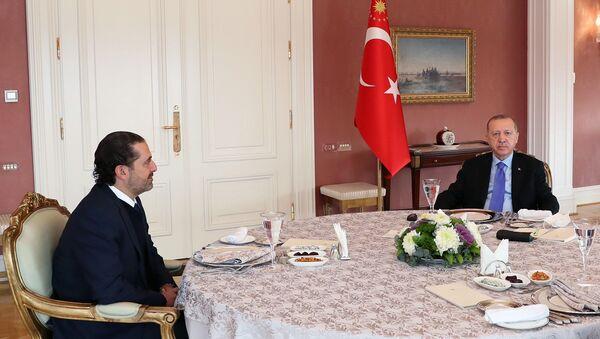 Saad Hariri - Erdoğan - Sputnik Türkiye