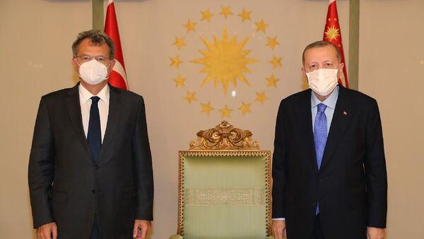 Cumhurbaşkanı Erdoğan, TÜSİAD Yönetim Kurulu Başkanı Simone Kaslowski'yi kabul etti - Sputnik Türkiye