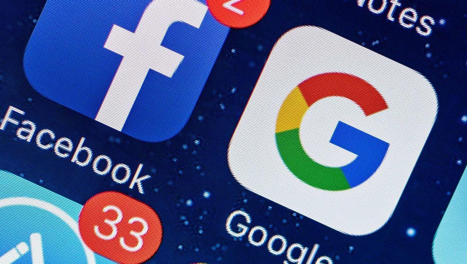 Facebook, Google, sosyal medya - Sputnik Türkiye, 1920, 30.03.2021