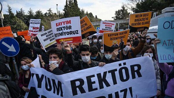 Boğaziçi Üniversitesi - protesto - Sputnik Türkiye