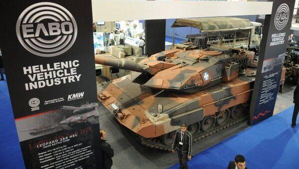 Yunan Askeri Araç Sanayii (ELVO) şirketi bir savunma fuarında - Sputnik Türkiye
