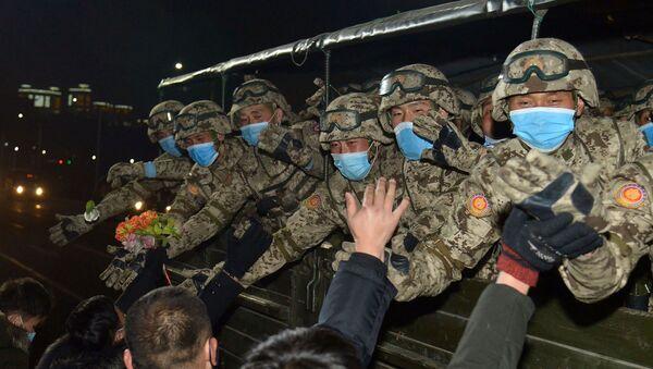 Kuzey Kore'deki askeri geçit - Sputnik Türkiye