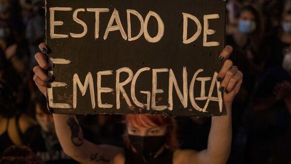 Porto Riko - kadına yönelik şiddet - protesto - Sputnik Türkiye