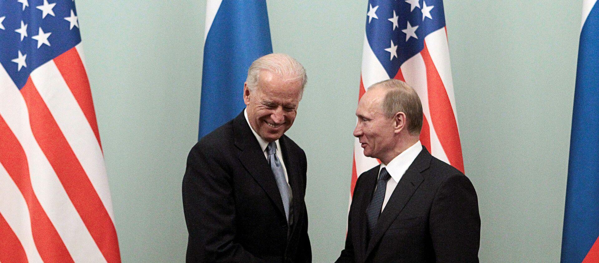 Rusya Devlet Başkanı Vladimir Putin ve ABD Başkanı Joe Biden - Sputnik Türkiye, 1920, 10.06.2021