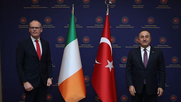 Dışişleri Bakanı Mevlüt Çavuşoğlu, İrlanda Dışişleri Bakanı Simon Coveney ile Dışişleri Bakanlığı'nda görüştü. - Sputnik Türkiye