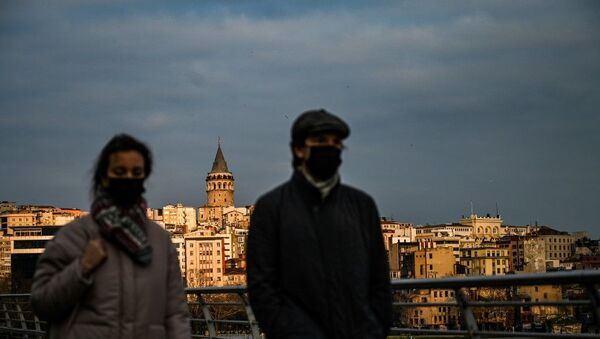 İstanbul, koronavirüs, maske - Sputnik Türkiye