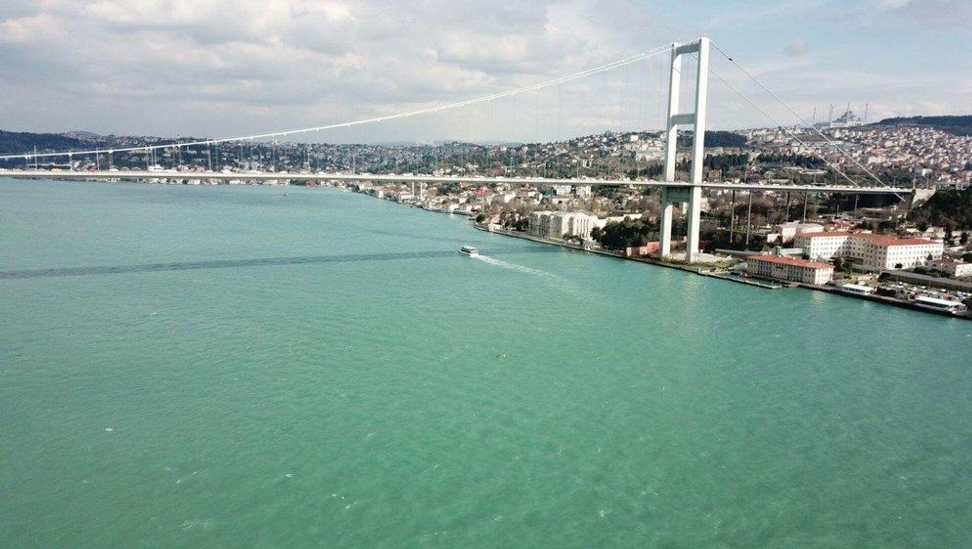 İstanbul Boğazı ilk defa kış ayında turkuaz rengine büründü - Sputnik Türkiye, 1920, 29.03.2021