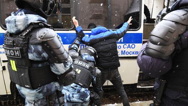 Navalnıy destekçileri, protesto - Sputnik Türkiye