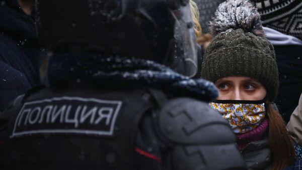 Rusya - Moskova - protesto - gösteri - Sputnik Türkiye