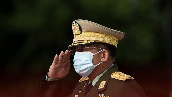 Myanmar ordusu - Min Aung Hlaing - Sputnik Türkiye