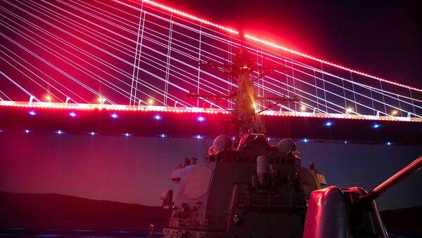 ABD Donanması'ndan İstanbul Boğazı'nda 'kırmızı ışık' paylaşımı - Sputnik Türkiye