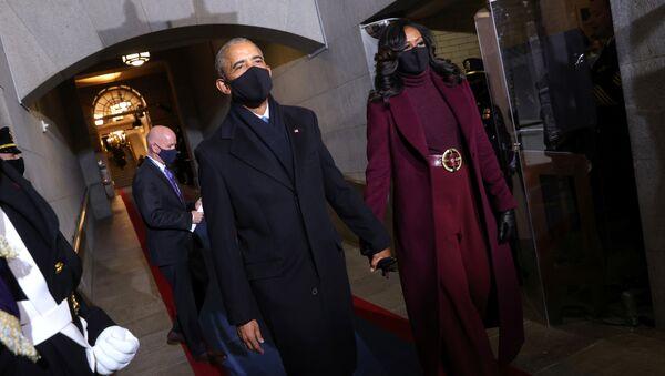 Barack Obama- Michelle Obama - Sputnik Türkiye