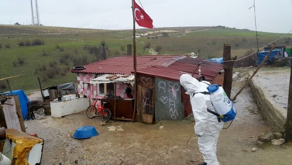 dezenfekte - koronavirüs - karantina - Sputnik Türkiye