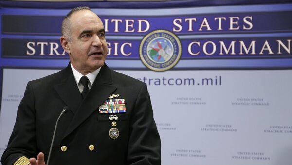 ABD Stratejik Komutanlığı Başkanı Amiral Charles Richard - Sputnik Türkiye