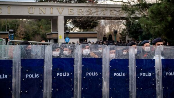 Boğaziçi Üniversitesi - polis - Sputnik Türkiye