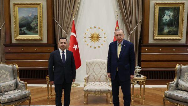 Cumhurbaşkanı Erdoğan, Anayasa Mahkemesi Başkanı Zühtü Arslan'ı kabul etti. - Sputnik Türkiye