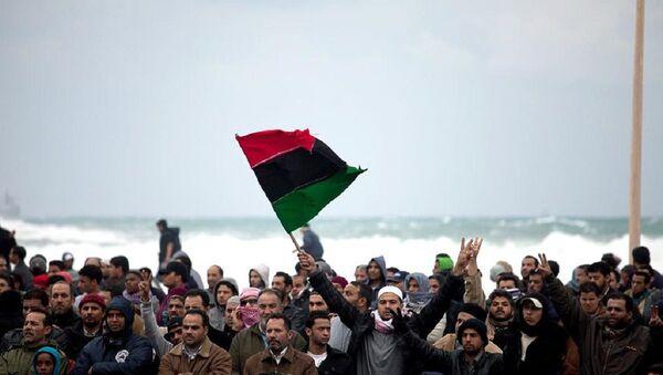Libya - bayrak - gösteri - Sputnik Türkiye