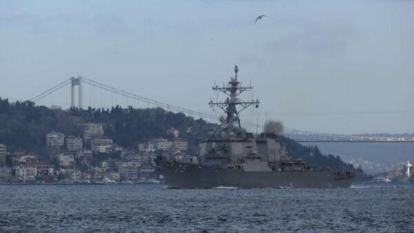 ABD savaş gemileri Boğaz'dan geçti - Sputnik Türkiye