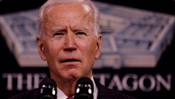 ABD Başkanı Joe Biden, Savunma Bakanlığını (Pentagon) ziyareti sırasında - Sputnik Türkiye
