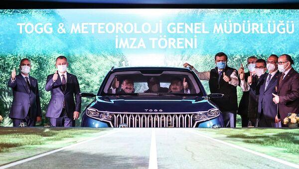 TOGG ve Meteoroloji Genel Müdürlüğü arasında Meteorolojik Verilerin Karşılıklı Paylaşımı Protokolü İmza Töreni  - Sputnik Türkiye