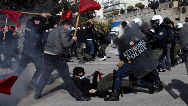 Yunanistan - öğrenci protestoları - Sputnik Türkiye