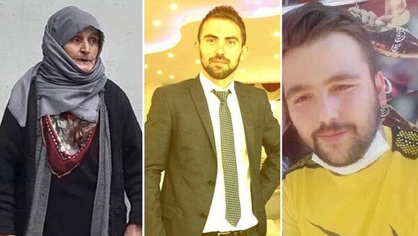Makbule Sarı ve katil zanlıları Hayrettin Görgülü, Serkan Uluz  - Sputnik Türkiye