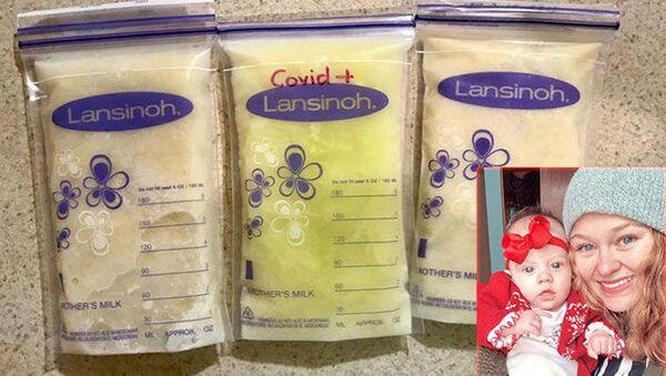 Meksika'da koronavirüse yakalanan annenin sütü açık yeşil oldu - Sputnik Türkiye