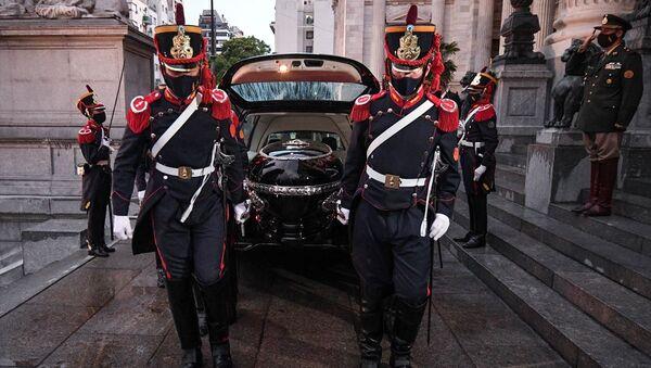 Arjantin'in başkenti Buenos Aires'te eski Devlet Başkanı Carlos Menem için cenaze töreni düzenlendi.  - Sputnik Türkiye