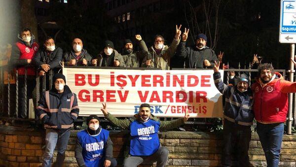Kadıköy Belediyesi işçileri greve başladı - Sputnik Türkiye