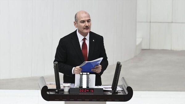 İçişleri Bakanı Süleyman Soylu, 13 Türk vatandaşının öldürülmesi ve Pençe Kartal-2 Harekatı konusunda bilgilendirme yaptı. - Sputnik Türkiye