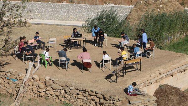 uzaktan eğitim, öğrenci, köy - Sputnik Türkiye