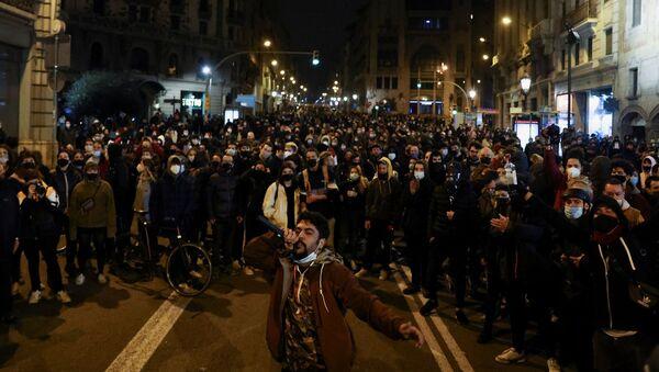 İspanya - Pablo Hasel - protesto - Sputnik Türkiye
