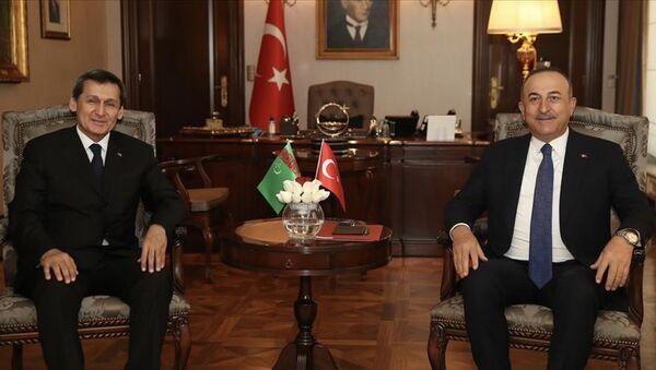 Dışişleri Bakanı Mevlüt Çavuşoğlu ve Türkmenistan Dışişleri Bakanı Raşid Meredov - Sputnik Türkiye
