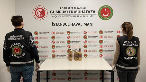 İstanbul Havalimanı'nda sıvı kokain - Sputnik Türkiye