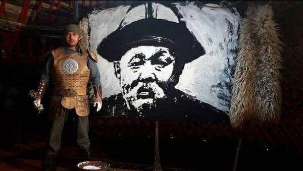 Kırgız ressam yoğurtla portre çizdi - Sputnik Türkiye