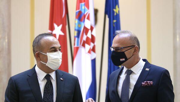 Çavuşoğlu - Hırvatistan Dış ve Avrupa İşleri Bakanı Gordan Grlic Radman - Sputnik Türkiye