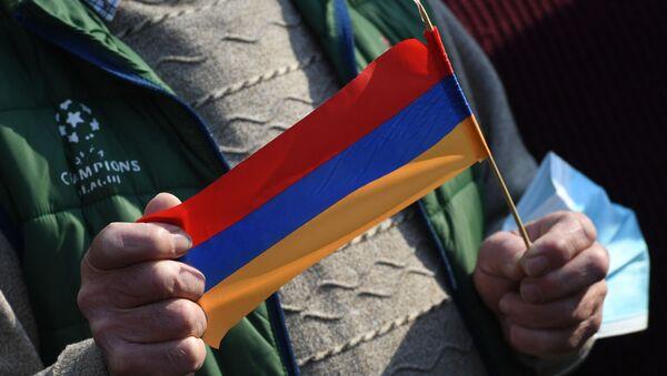 Ermenistan - protesto - bayrak - Sputnik Türkiye