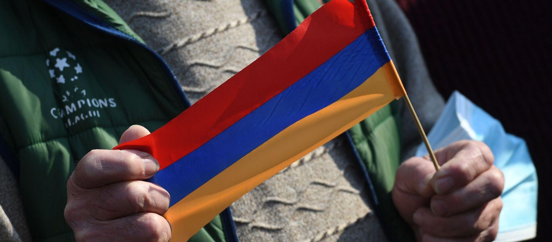 Ermenistan - protesto - bayrak - Sputnik Türkiye, 1920, 01.03.2021