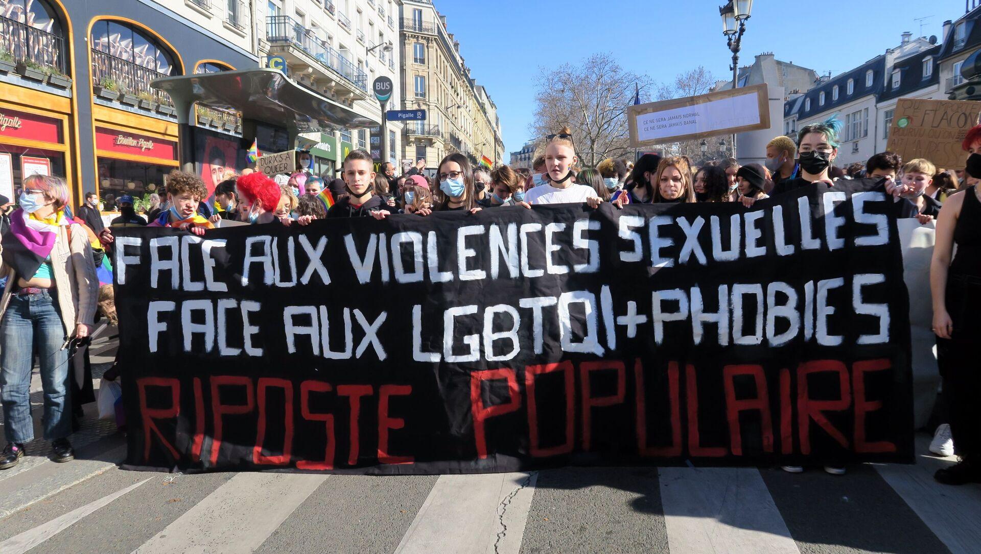 Fransız Komünist Partisi (PCF) üyesi 20 yaşındaki bir üniversite öğrencisinin, partinin Belediye Meclisi'ne seçilen üyesi Maxime Cochard ve arkadaşı Victor Laby'nin cinsel saldırısına uğradığını açıklayarak, intihar etmesinin ardından patlak veren skandal ülkeyi karıştırdı, yüzlerce kişi sokaklara dökülerek gösteri düzenledi. - Sputnik Türkiye, 1920, 28.02.2021